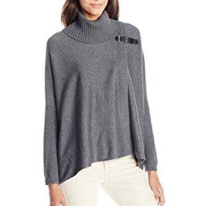 Calvin Klein | Turtleneck Poncho Sweater